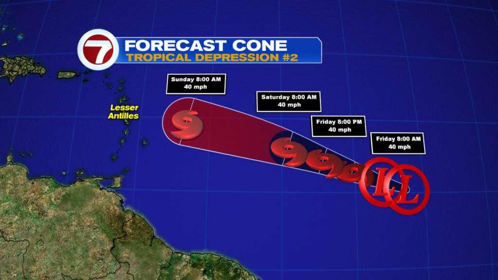 Tropical Depression 2 forms over Atlantic Ocean   Puerto ...