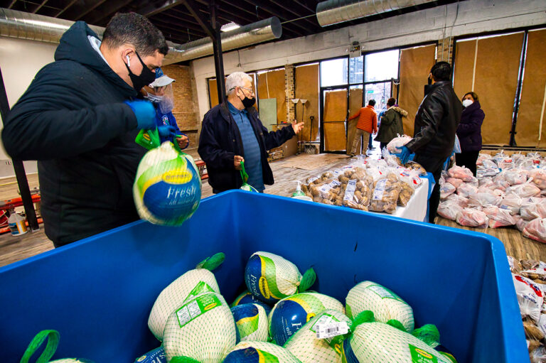 Over the course of 4 days, PRCC distributes Turkeys, Food Staples, and prepared meals to more than 400 families in the community