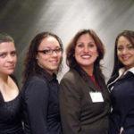 L to R: Lourdes Lugo, director of PACHS, Maria Ramos, senior, Rep Cynthia Soto, Stephanie Castro, senior